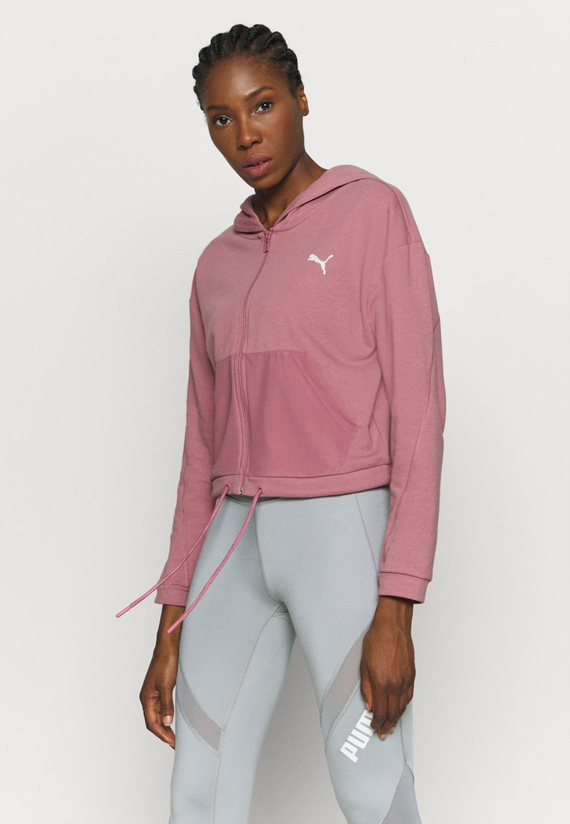 Puma - PAMELA REIF X PUMA COLLECTION FULL ZIP HOODIE - Sweatjacke - mesa rose