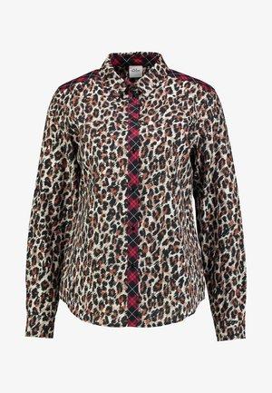 Button-down blouse - light camel