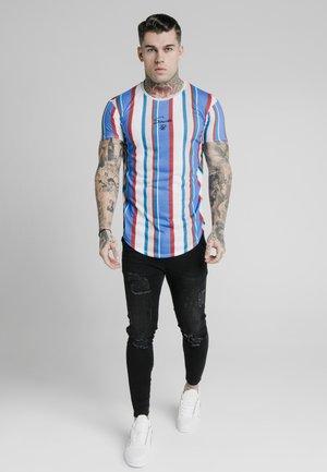 STRIPE TEE - T-shirts print - blue/red/ecru