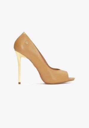 TERRY - Peeptoe heels - light brown