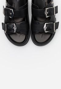 KARL LAGERFELD - MEDINA BUCKLE TWO STRAP - Pantofle - black - 6