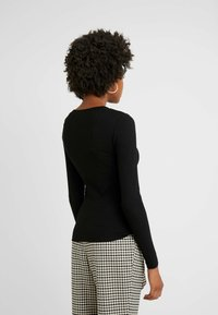 Even&Odd Tall - BASIC CREW NECK LONG SLEEVES - Long sleeved top - black - 2