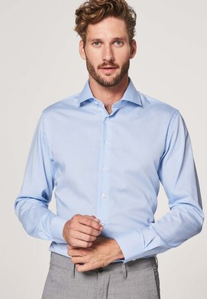 SLIM FIT - Zakelijk overhemd - blauw wit