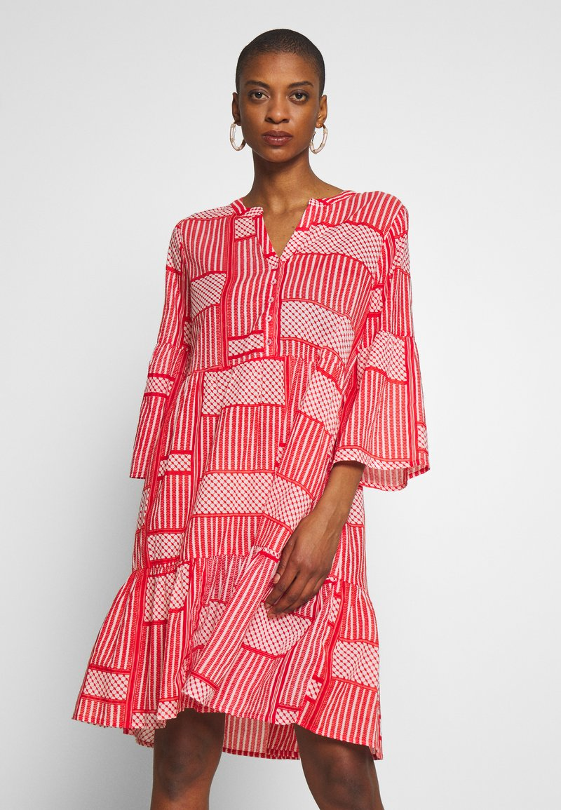 Kaffe - KAPARRIS DRESS - Shirt dress - high risk red