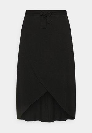 PCELONORA MIDI WRAP SKIRT - A-line skirt - black