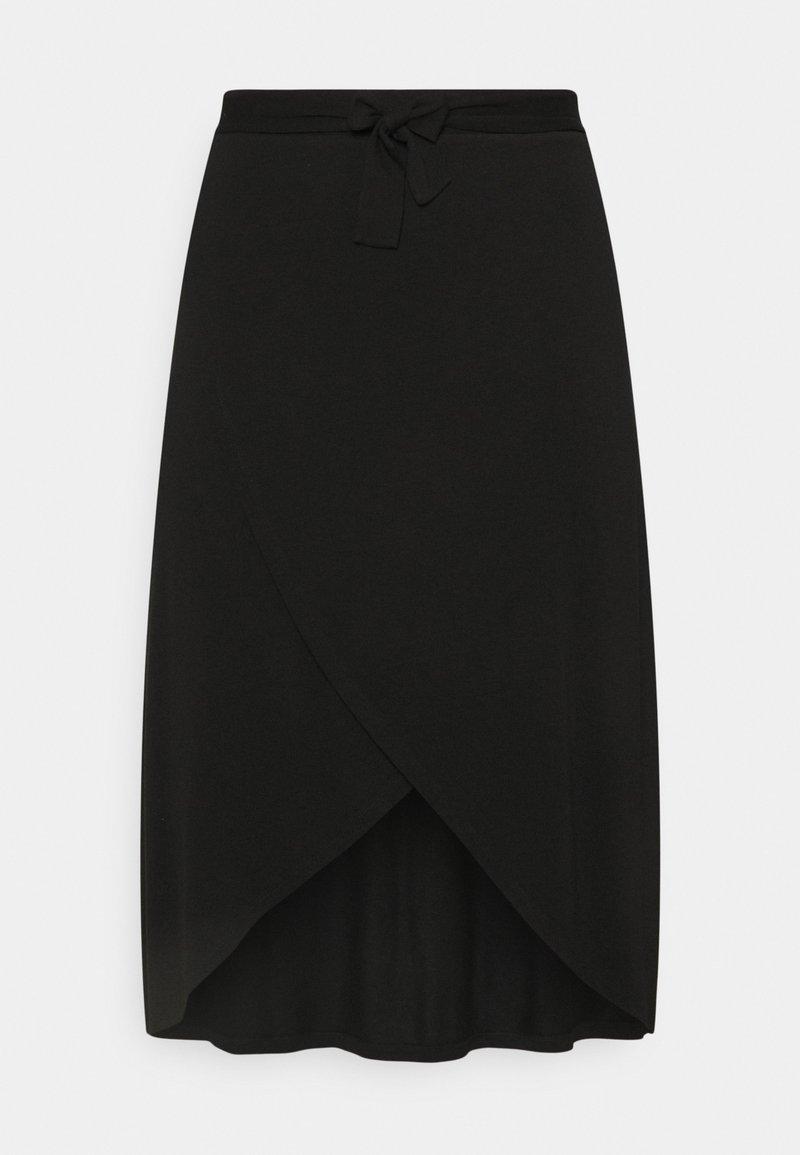 Pieces Curve - PCELONORA MIDI WRAP SKIRT - A-line skirt - black