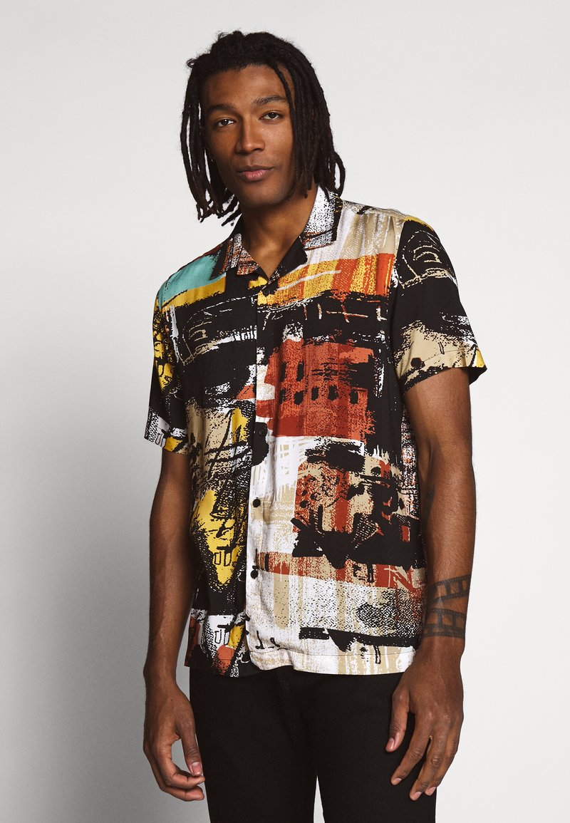 Topman - ABSTRACT PRINT  - Skjorta - black