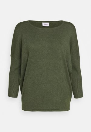 MILA NECK - Jumper - army green melange