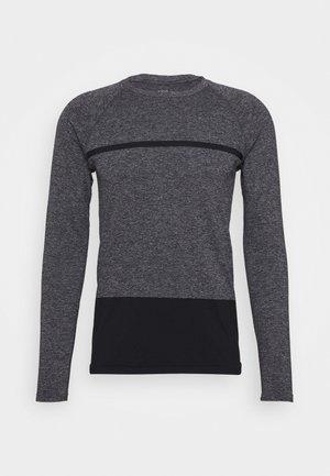 SEAMLESS LONG SLEEVE - Long sleeved top - dark grey melange