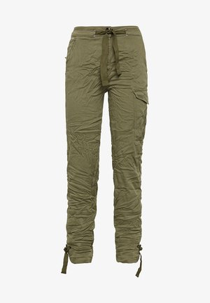 BLOSSITE HIGH STRAIGHT ANKLE - Cargo trousers - green