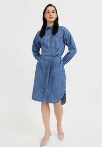Finn Flare - Denim dress - blue - 1