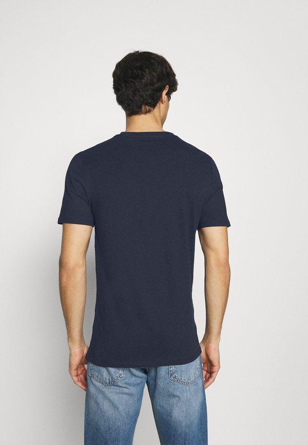 Guess TEE - T-shirt basic - blue navy/granatowy Odzież Męska RPWW