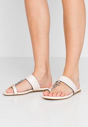 JAIMEE CHAIN - T-bar sandals - chalk