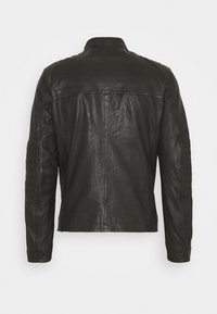 Strellson - DRIVER - Leather jacket - dark brown - 9
