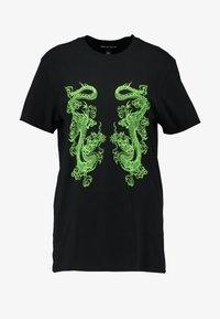NEW girl ORDER - DOUBLE DRAGON PRINT TEE - T-shirt med print - black - 3