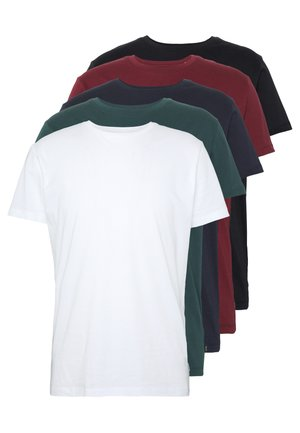5 PACK - T-shirt - bas - teal blue