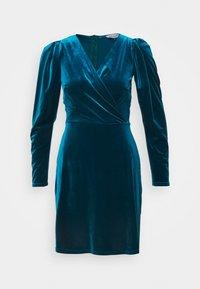 Closet - CLOSET WRAP FRONT PUFF SHOULDER DRESS - Day dress - teal - 4