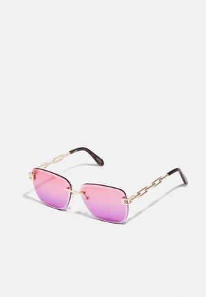 NO CAP - Sunglasses - gold-coloured/coral/pink