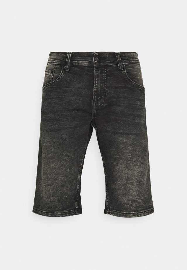 SUPERFLEX - Denim shorts - black mud