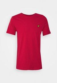 Lyle & Scott - PLAIN - Basic T-shirt - gala red - 5