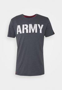 Alpha Industries - ARMY CRACK - Triko spotiskem - greyblack - 0