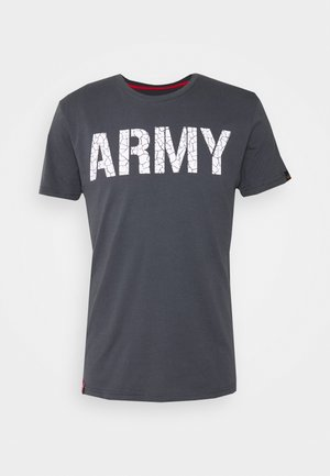 ARMY CRACK - Triko spotiskem - greyblack