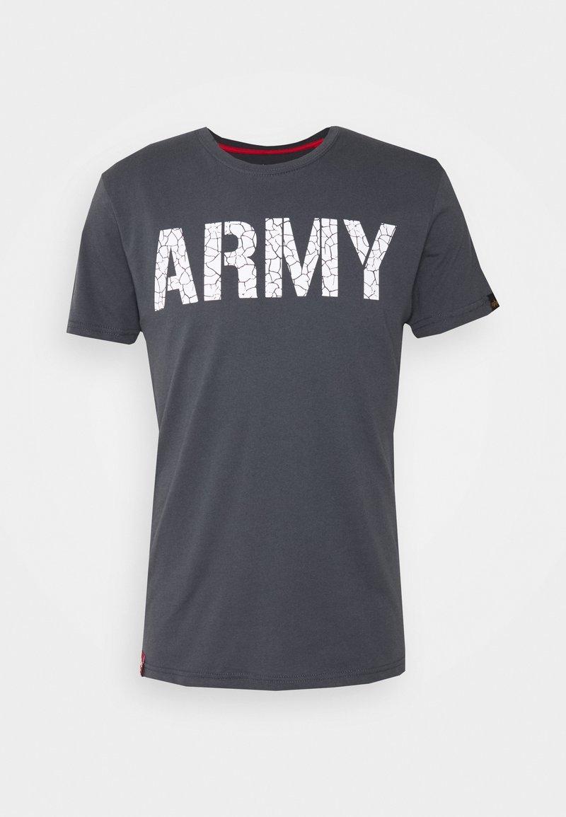 Alpha Industries - ARMY CRACK - Triko spotiskem - greyblack