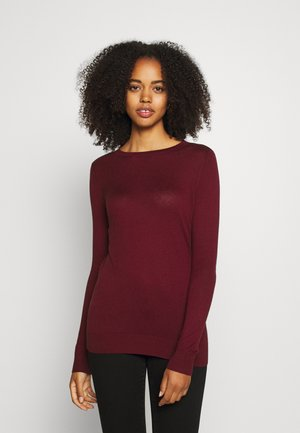 VMMILDA ONECK BUTTON BACK - Strikkegenser - cabernet