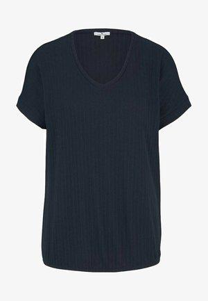 STRUKTURIERTES - Print T-shirt - sky captain blue