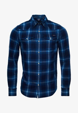 RESURRECTION  - Shirt - tonal indigo check