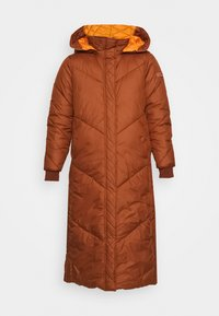 TOM TAILOR DENIM - REVERSIBLE MAXI PUFFER COAT - Winter coat - burnt hazelnut brown - 7