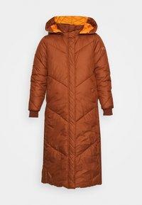REVERSIBLE MAXI PUFFER COAT - Zimní kabát - burnt hazelnut brown