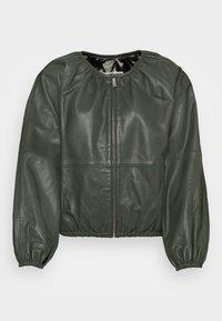 InWear - CADIX JACKET - Leather jacket - green olive - 3