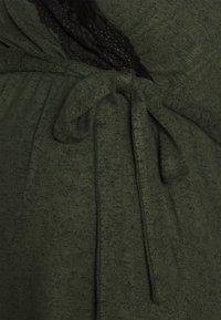 MAMALICIOUS - MLDIA TESS - Trui - duffel bag/melange with black lace - 2