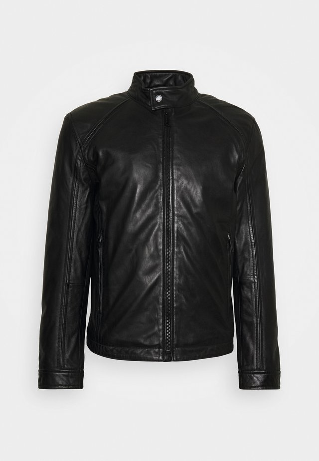 QUINTO - Leather jacket - black