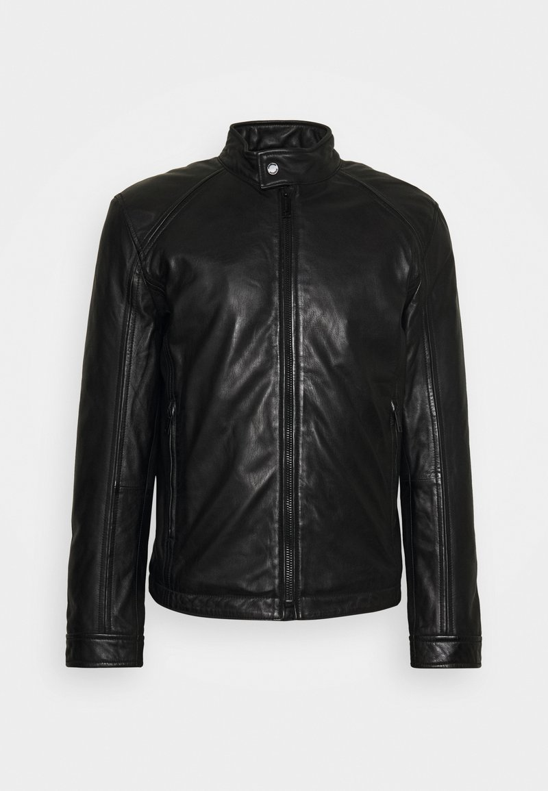 Strellson - QUINTO - Leather jacket - black