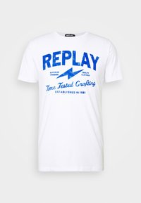 Replay - TEE - T-shirt con stampa - white - 3