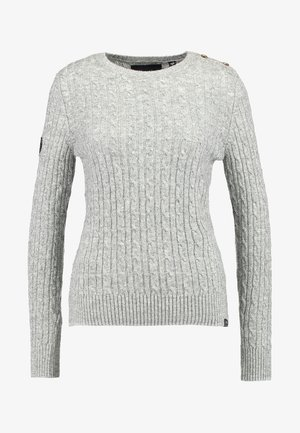 CROYDE CABLE  - Sweter - grey marl