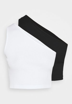 2 PACK - Top - black/white