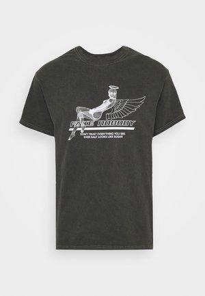 T-shirts med print - black acid wash