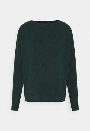 ONLELENA BOATNECK - Jumper - green gables/black melange