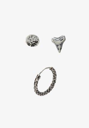 GREAT WHITE EARRING 3 PACK - Oorbellen - silver-coloured