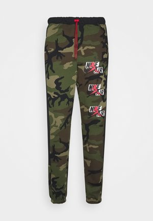 CAMO  PANT - Tracksuit bottoms - medium olive/black