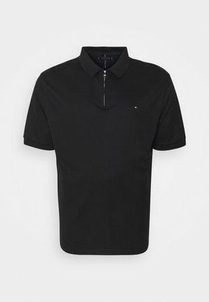 INTERLOCK ZIP - Polo shirt - black