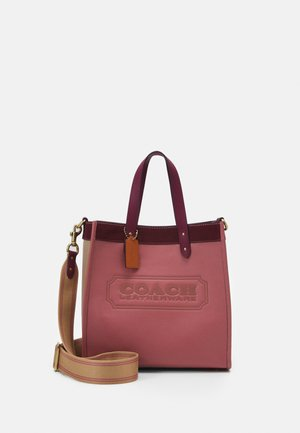 COLORBLOCK  WITH COACH BADGE FIELD  - Torebka - vintage pink multi