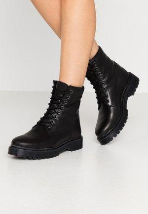 BERMONT - Platform ankle boots - black