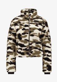 Urban Classics - LADIES CAMO SHERPA JACKET - Winter jacket - wood - 4