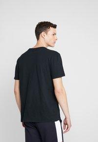 American Eagle - SLUB CREW NECK - Basic T-shirt - black - 2