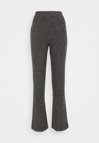 Pieces - PCPAM FLARED PANT - Trousers - dark grey melange - 0