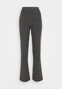 PCPAM FLARED PANT - Trousers - dark grey melange